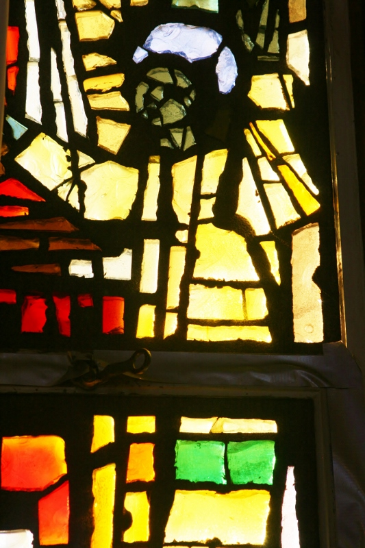 Detail of the stained glass in our Sanctuary